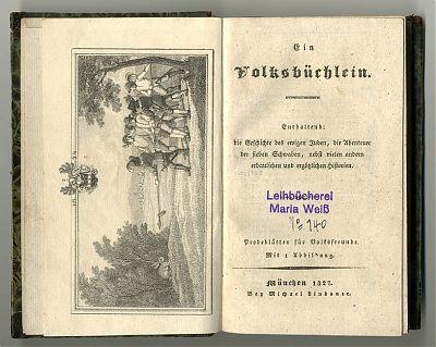 Ein Volksbuechlein. - München, Michael Lindauer, 1827