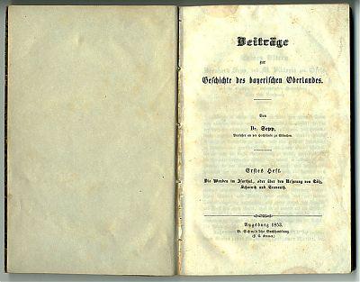 Johann Nepomuk Sepp : Isartal, Tölz, Scharnitz ...