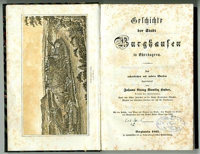 J. G. B. Huber : Geschichte der Stadt Burghausen