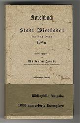 Joost (Hg.) : Adressbuch der Stadt Wiesbaden für das Jahr 1876/1877 (Reprint)
