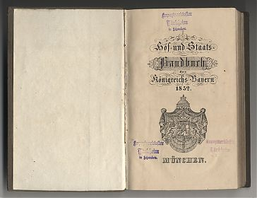 Hof- und Staatshandbuch des Königreichs Bayern, 1852