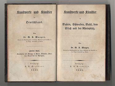 Waagen : Kunstwerke und Künstler. - Leipzig, Brockhaus, 1845