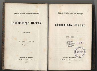 Friedrich Wilhelm Joseph v. Schelling : Sämmtliche Werke. - Stuttgart, Cotta, 1858 // Antiquariat Joseph Steutzger / www.steutzger.net