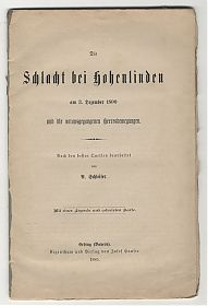 Buch- und Kunst-Antiquariat Joseph Steutzger // www.steutzger.net / Schleifer : Schlacht bei Hohenlinden // Ankauf alte Bücher