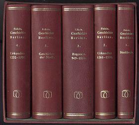 Ernst Fidicin: Geschichte Berlins. 5 Bände. NACHDRUCK / REPRINT / Antiquariat Steutzger