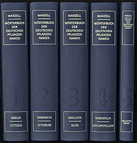 Marzell: Wörterbuch der deutschen Pflanzennamen (Reprint/Nachdruck) - Antiquariat Steutzger