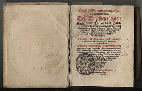 Markgraf Ernst Friedrich v. Baden: Stafforter Buch, 1599 - Antiquariat Steutzger