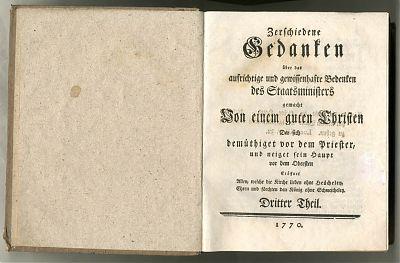 Anton Sebastian Ruef : Zerschiedene Gedanken ... 1770-1771