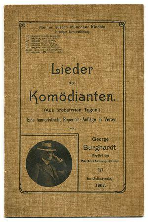 George Burghardt : Lieder des Komödianten